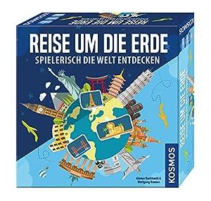 KOSMOS Reise um Die Erde Spielerisch Die Welt entdecken Niños y Adultos Viajes/Aventuras - Juego de Tablero (Viajes/Aventuras, Niños y Adultos, 20 min, Niño/niña, 8 año(s), 110 Pieza(s))