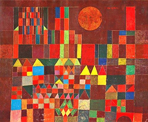 Kunstdruck auf Leinwand. Burg und Sonne. Bild von Paul Klee - Leinwand Burg