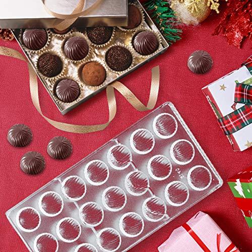 Jeteven Schokoladen Formen Pralinenformen Schokoladenherstellung für Süßigkeiten transparenter Kunststoff, Polycarbonat (PC) (Muster (21 Stücke))