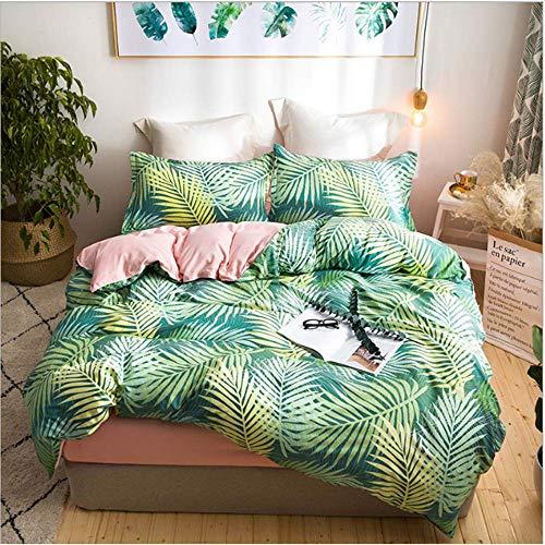 SHJIA Bettwäsche aus ägyptischer Baumwolle Set Bettbezug Bettlaken Kissenbezug Queen King Size D 200x230cm