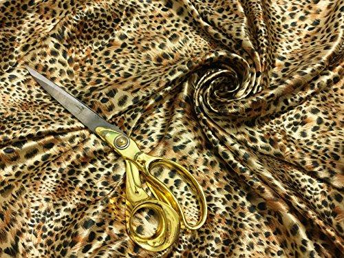 Ligero y liso satén líquido animal / leopardo 2 impreso material de tela