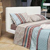 Bassetti Granfoulard.- Juego de cama Portofino V6 Beige para cama de matrimonio 240 x 280 cm (4 piezas)