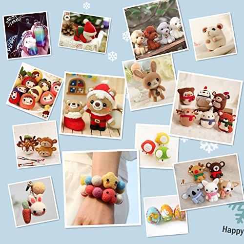 Filzwolle Märchenwolle 36 Farben 5g/farben Fuyit Filzwolle Set Märchenwolle Filznadeln Werkzeug Starter Kit für Nadel Filz DIY Handwerk