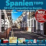 ? Spanien Spain Espana Topo GPS Karte microSD Card für Garmin Navi, PC & MAC