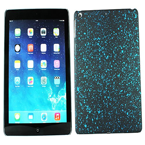 Heartly Night Sky Glitter Star 3D Printed Design Retro Color Armor Hard Bumper Back Case Cover For Apple iPad Air Tablet (iPad 5) - Light Blue  available at amazon for Rs.129