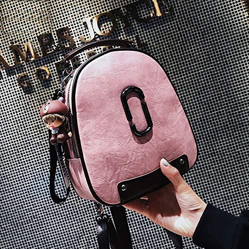 YNPGHG Frauen Designer Mini Rucksack mit schönen Ball Anhänger Clutch Schulter kleine Diebstahlsicherung Rucksack Geldbörse,Pink - 965 Anhänger