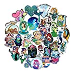 Sbarden 50 Pcs Mermaid Series Doodle Sticker PVC Waterproof Sticker Travel Suitcase Car Sticker Decal Anime Fans Gifts