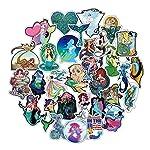 Sbarden 50 Pcs Mermaid Series Doodle Sticker PVC Waterproof Sticker Travel Suitcase Car Sticker Decal Anime Fans Gifts