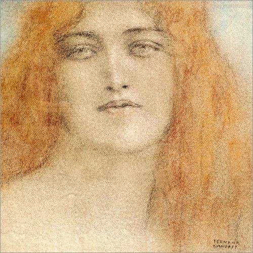 Forex-Platte 30 x 30 cm: Etude de Femme von Fernand Khnopff