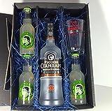 Russian Standard Vodka Lemon Set / Geschenkset – Russian Standard Vodka 70cl (40% Vol) + 3x Thomas Henry Bitter Lemon 200ml + Shakers Glas geeicht 4cl