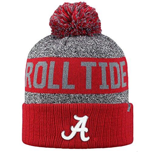 Top of the World NCAA Arctic gestreift Cuffed Knit Pom Beanie Hat, Herren, Alabama Crimson Tide, One Size Fits Most