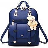 Bolso de hombro de la escuela de cuero sintético de la manera de la muchacha de las mujeres Mochila del viaje de la mochila