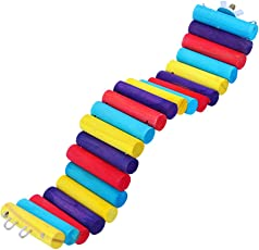 TOYMYTOY Hamsters Bird Climbing Toys Wooden Brige Exercise Ladder Toy 6 x 30cm