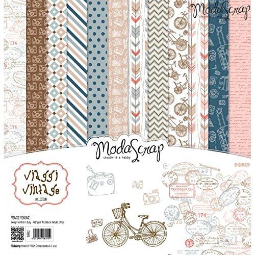 Elizabeth Craft Designs Viaggi Vintage Papier Pack, mehrfarbig, 12x 12Zoll
