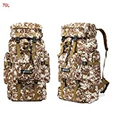TnXan 70L 85L Tactical Bag Military Backpack Mountaineering Men Travel Outdoor Sport Bags Molle Hunting Camping Rucksack Hiking Backpack Trekking Rucksacks Hiking Camping Backpack