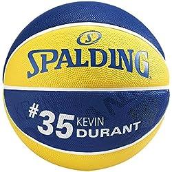 Spalding NBA Player Kevin Durant Ball Basketball Mixte Adulte, Jaune/Bleu, 5