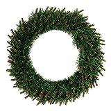 BESTOYARD 40cm Weihnachtskranz mit Lichter Tür Wand Ornament mit LED-Licht für Weihnachtsfeier Dekor Home Tür