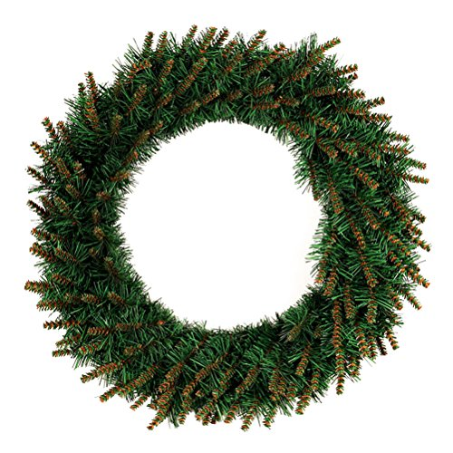 BESTOYARD Christmas Door Wreath with LED Light Artificial Christmas Wreaths 40cm