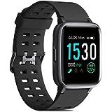 CHEREEKI Fitness Watch, IP68 Waterproof Fitness Tracker with Heart Rate Monitor, Sleep Monitor, Pedometer, Music Control and