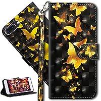 HMTECH iPhone 8 Plus Hülle Luxus 3D Gold Schmetterling Blumen Flip Standfunktion Karten Slot Magnetverschluß Brieftasche... preisvergleich bei billige-tabletten.eu