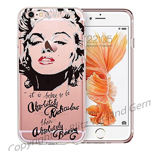 Blitz® Marilyn Monroe motifs housse de protection transparent TPE iPhone M6 iPhone 7 7s M9