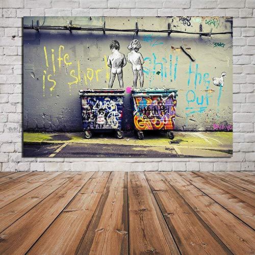 Lienzo Imprimir Pintura Graffiti Callejero Arte Pintura