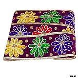 Ethnisch Indisch DIY Nähen Handwerk Hause Dekorative Bestickt Trimm Sari Grenze Stein Floral Design Band Handgemachte Verzierungen Spitze Dekoration Zubehör