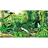 XYDXDY 500/520/1000 pcs Le puzzle en bois de la forêt tropicale montagnarde Original cadeau exquis jouet écosystème peint à la main-1000 pcs