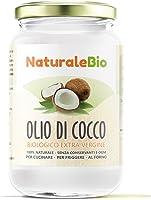 Olio di Cocco Biologico Extra Vergine 500 ml | Crudo e Spremuto a Freddo | Organico e Puro al 100% | Ideale sui Capelli, sul Corpo e ad Uso Alimentare | Olio di Cocco Bio Nativo e non Raffinato