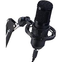 auvisio Mikrofon: Profi-USB-Kondensatormikrofon mit Popschutz & Ringlicht (Konferenzmikrofon)