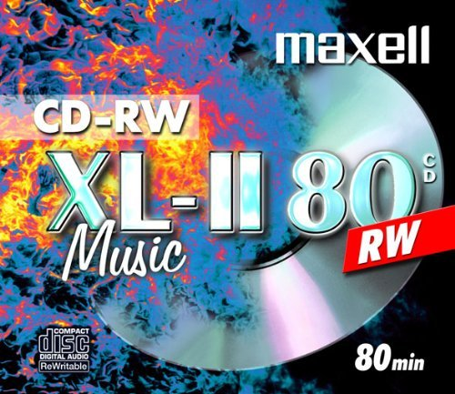 10 X MAXELL DIGITAL AUDIO CD-RW MUSIC CD'S REWRITABLE Test