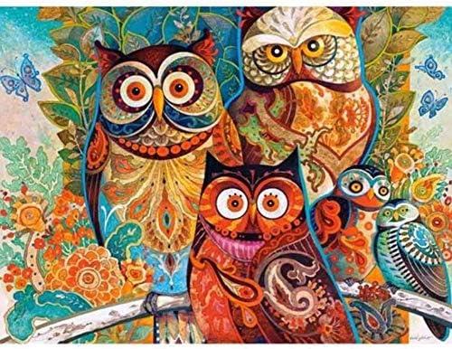 WACYDSD Puzzle Adulte 1000 Pièces DIY Cartoon Owl Decor Art Art Art Moderne De Mur De Cadeau Unique Home Decor | Soyez Bienvenus En Cours D'utilisation  a7fe70