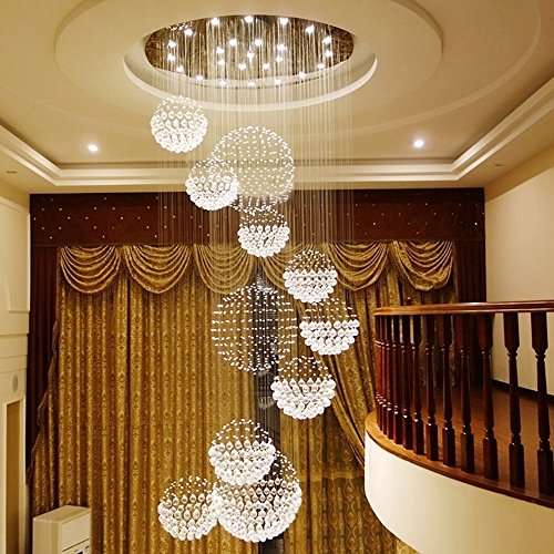 DD-Led-Chandelier-Modern-Duplex-Stairs-Chandeliers-Crystal-Long-Chandelier-Lamps-A-Size-A100350cm