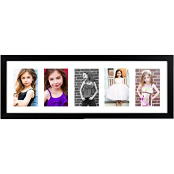 Buy PRINTELLIGENT Black Collage Picture Frame with 5 Openings (8x24 ...
