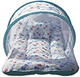 BRANDONN NEWBORN ORIGINAL Toddler Mattress with Mosquito Net BABY Bedding Cum Sleeping Bag (white)