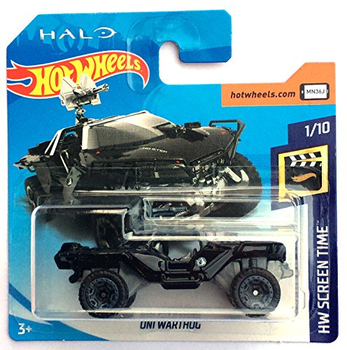 Halo Toys Hot (HotWheels FJW33 - HALO ONI Warthog schwarz (HW Screen Time 1/10))
