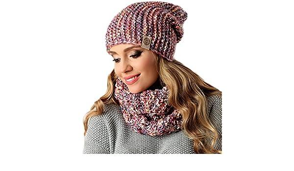 professionnel de premier plan joli design pas cher Pawonex Kit tricot bonnet hiver Loop Cheminée écharpe d ...