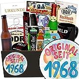 Original seit 1968 | Mann Geschenkset | Geschenk Idee | Original seit 1968 | Männer Box | Geschenke zum 50 Geburtstag Mann deko | INKL DDR Kochbuch