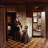 Artland Qualitätsbilder I Wandtattoo Wandsticker Wandaufkleber 60 x 60 cm Menschen Gruppen Familien Malerei Braun D0CQ Frau mit Kind in Einer Speisekammer 1658