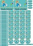 INDIGOS UG Namensaufkleber/Sticker - A4-Bogen - 099 - schöne Fee - 69 Aufkleber für Schule, Kindergarten, Hefte, Bücher - Stifte, Federmappe, Lineale - auch für Erwachsene - individueller Aufdruck
