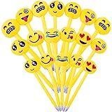 24pz Penne Emoji Penna a Sfera Bambini Divertenti Carine Colorati per Gadget Regalo Compleanno Bomboniere Battesimo Comunione