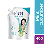 Vivel Body Wash, Mint and Cucumber, 400 ml