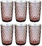 Vintage 6 Teile Set Glasnetz König Trinkglas Glas Gläser Weingläser Wasserglas Longdrinkglas