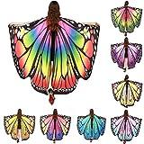 schmetterling kostüm, HLHN Frauen Schmetterling Flügel Schal Schals Nymphe Pixie Poncho Kostüm Zubehör für Show / Daily / Party
