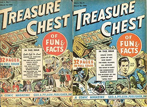 Treasure Chest Comics Vol 1 No1 & 2. Includes Gods gif is lent. Legend of Pancake tuesday. Chuck white, Skee Barry, Puzzle Page (Treasure chest fact, fun and fiction comics) (English