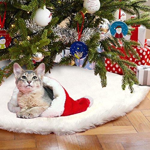 AerWo Faux Fourrure en sapin de Noël jupe,...