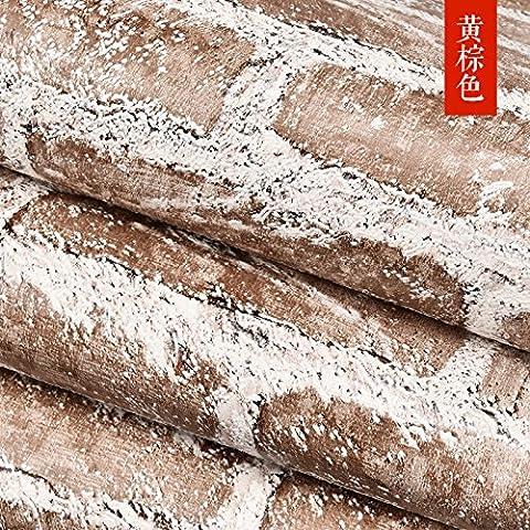 Emulazione SWYKAA stereo pareti in mattoni rossi personalità carta comune di arenaria negozio di abbigliamento wallpaper ,un38-0205,0,53*10 M