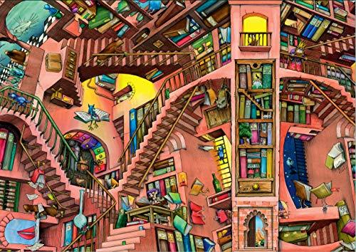 Ravensburger Colin Thompson–La Bibliothèque Ludicrous, 500pc puzzle