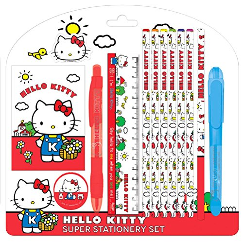 Offizielle lizenzierte Kinder Vintage Kollektion Hallo Kitty Super Schreibwaren Set