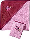 Kinderbutt Frottier-Set 2-tlg. rosa Größe 80x80 cm + 15x21 cm
